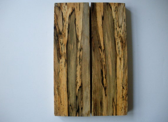 Spalted Beech Wood ~ Spalted american beech wood knife scales or grips