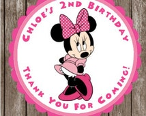 Minnie Mouse Stickers  Minnie Thank You Stickers and Tags