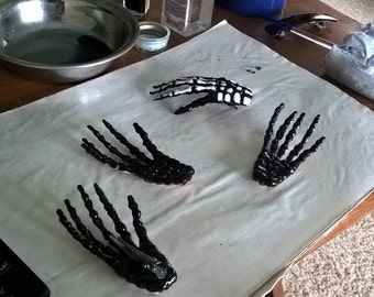Skeleton Hand Hair Clips *preorder*