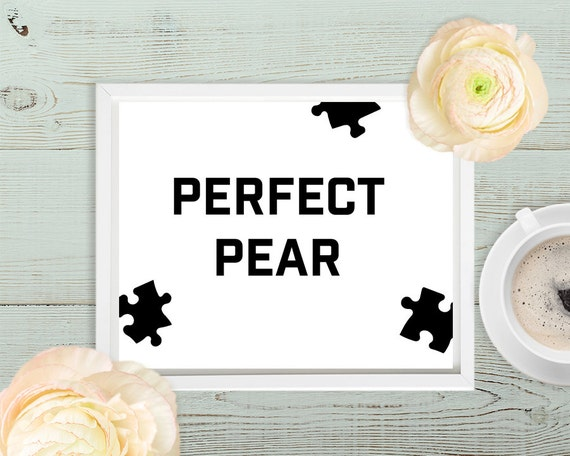 Items similar to perfect pear art typography pear decor Pear home decor