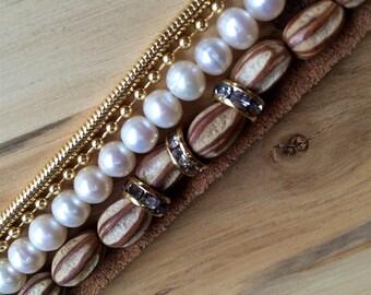 Santa Barbara Seed and Pearls Bracelet