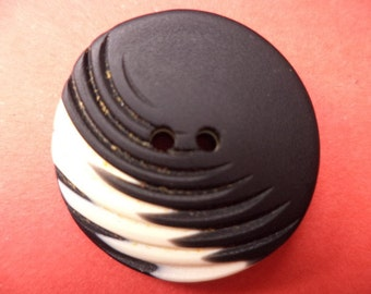 23 mm (1337) button 9 buttons white black