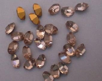 25 Light Amethyst Ovals 7x5 mm