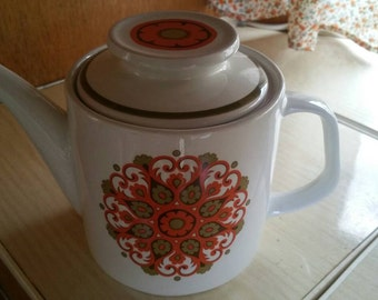 J & G Studio Meakin Teapot 1971 Madrid design. Psychedelic