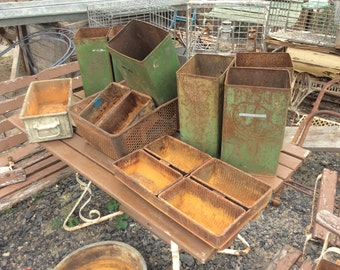 Assorted rustic & industrial containers