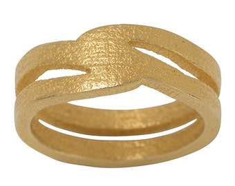 3D printed ring in gold steel - SIOUL -