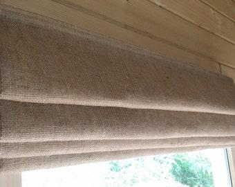 MTM Roman Blinds Hessian Jute Natural burlap raw linen industrial loft living rustic