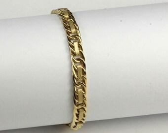 """14K Fancy Link Bracelet - 7 1/2"""""""