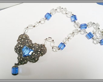 Vintage REPURPOSED Czech necklace c. 1930