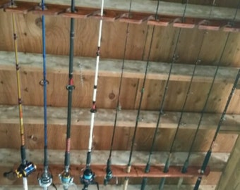 Ceiling or Wall Mount Fishing Rod Holders