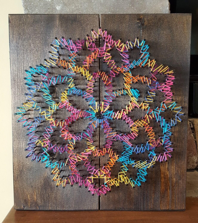 Flower String Art By Randomactsofwood On Etsy