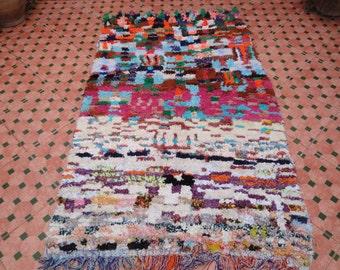 """boucherouite rug 6""""x3"""" ft vintage moroccan berber"""