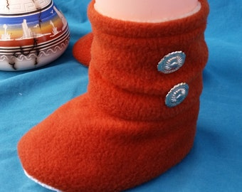INFANT: Native American Traditional Style (Solid Red) Footwear