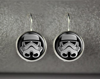 Star Wars Stormtrooper earrings, Star Wars jewelry, Star Wars accessories, Stormtrooper earrings