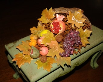 "Miniature dolls house 1:12 scale ""cornucopia for luck"""
