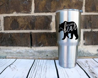 MAMA BEAR-Bear Family-Vinyl Decal-Mom Decal-Live My Tribe-Coffee Mug-Cup--Travel Mug-Laptop