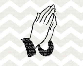 SVG Clipart, Praying Hands Svg, Prayer Hands Clipart SVG, Religious Art, Bible Clipart, Svg Cutting File, Svg Design, Cutting Machine