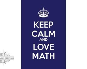 Math Poster, Fun, Keep Calm, Printable Poster, Maths, Education