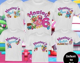 Shopkins Birthday Shirts, Family Birthday Tees