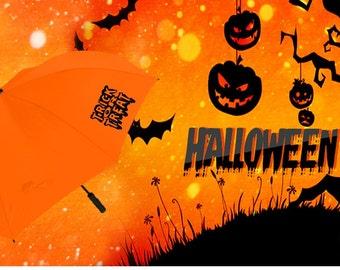 Halloween trick or treat umbrella