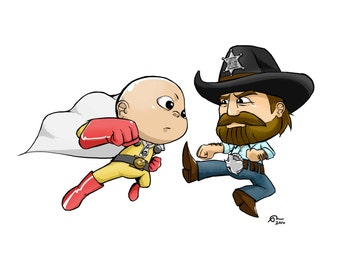 One Punch VS Chuck Norris