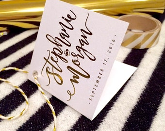 Gold Foiled Message Cards - Personalized (add to Save the Dates; Wedding, Baby Shower Bridal Shower or Birthday Invitations; Etc.)