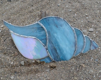 Sea Shell #4 stained glass suncatcher
