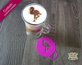 Flamingo - Coffee Stencil