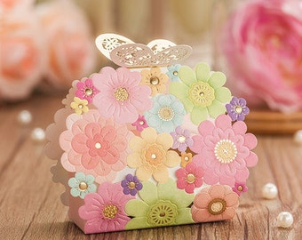 Wholesale 25pcs/lot Wedding Candy Packaging Paper Boxes Wedding Decoration Boxes Supplies Chocolate Biscuit