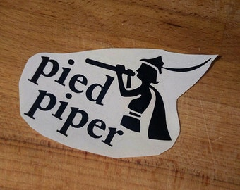 Silicon Valley Pied Piper vinyl laptop decal/transfer sticker