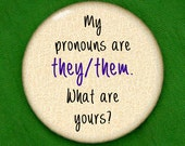 they/them pronouns button