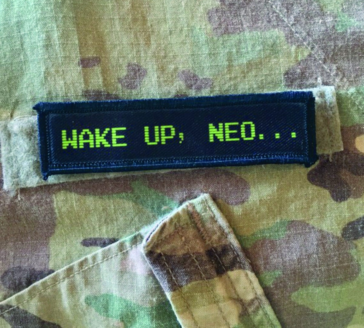 1x4 Wake Up Neo Matrix Movie Velcro Morale Patch by ...