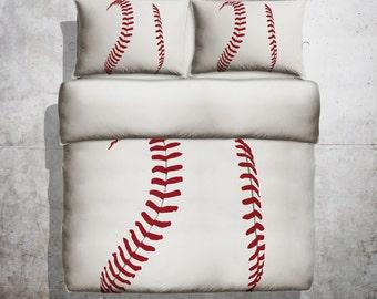 Baseball Threads Duvet - Baseball, Baseball Duvet, Kids bedding, Baseball kids bedding