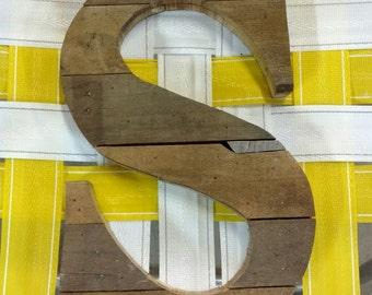 "CUSTOM - 14"" Tall Pallet letter - Nursery decor - Reclaimed - Pallet wall art - Monogram A B C D E F G H I J K L M N O P Q R S T U V W X Y Z"