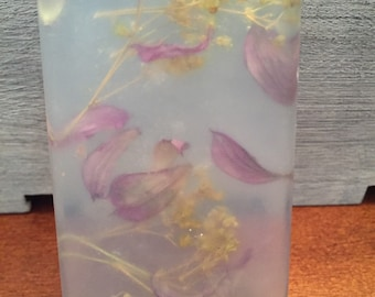 Decorative hand soap with flowers