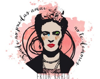 FRIDA KAHLO t-shirt. Beautiful sublimation printing!