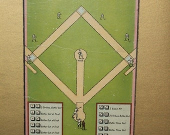 Vintage Baseball Board Game Framed