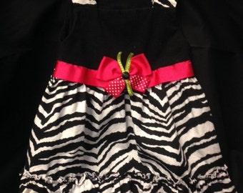 Zebra Print Dog Dress