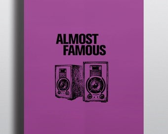Almost Famous Minimalist Graphic Poster