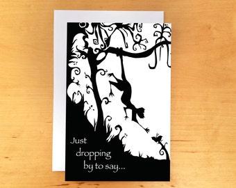Monkey Birthday Card 4x6