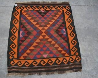 3'4 x 2'10 Foot Beautiful and Stunning Handwoven Afghan Maimana kilim Rug Decor Kilim