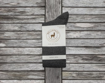 Socks Alpaca anthracite grey short for woman