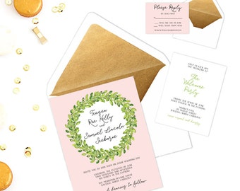 The Teagan Suite - Printable Wedding Invitation Set
