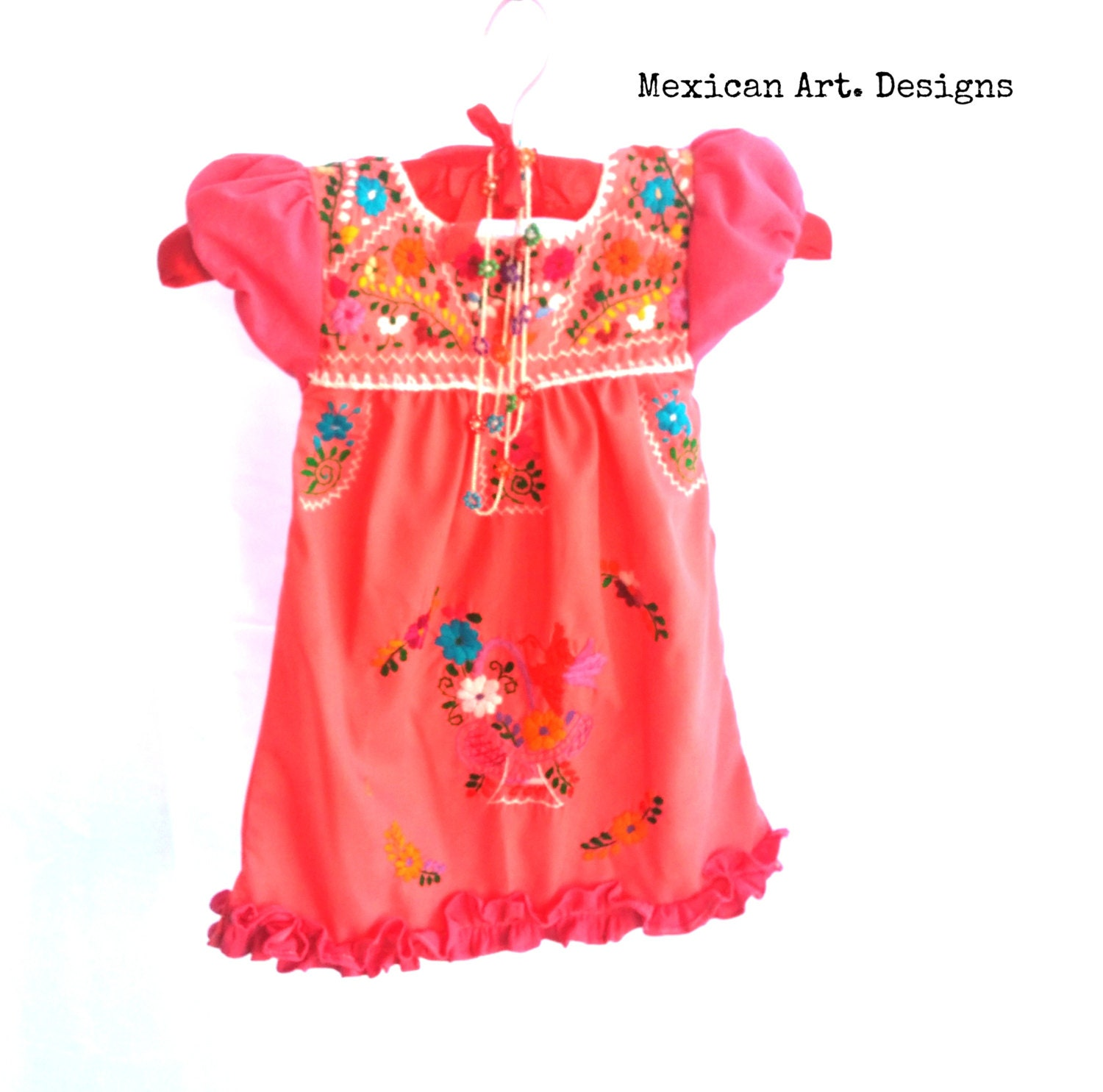 Quetzalli mexican embroidered baby dress size months free