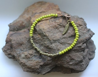 Beaded Bracelet: Lime Light