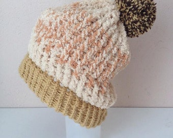 Knitting hat with Pom Pom