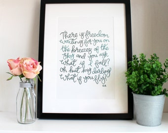 There Is Freedom A4 Original Print (Free U.K. shipping)
