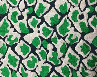 Velvet Upholstery Fabric - Hendrix - Emerald - Leopard Print Cut Velvet Home Decor Upholstery Fabric by the Yard - Available in 15 Colors