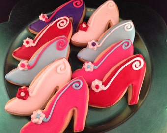 Shoe Decorated Cookies - Dozen