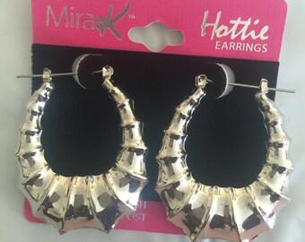 Silver angular hoop earrings!!!